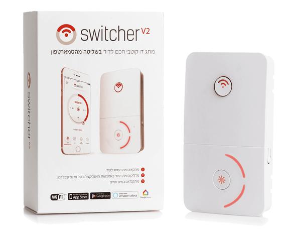Switcher V2 - מפסק חכם לדוד שמש | מאפשר כיבוי והדלקה של הדוד מכל מקום ובכל זמן! | שליטה מלאה מהסמארטפון, , large image number null